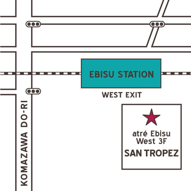 SAN TROPEZ地図